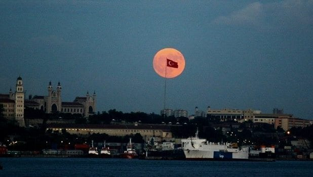 süper ay istanbul ankara izmir türkiye