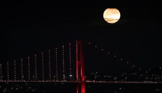 süper ay fotoğrafları görüntüleri dolunay video istanbul