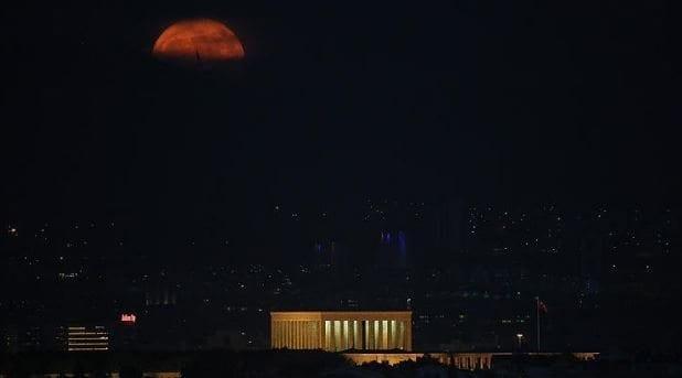 süper ay fotoğrafları görüntüleri dolunay video ankara