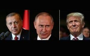 Erdoğan, Putin, Trump