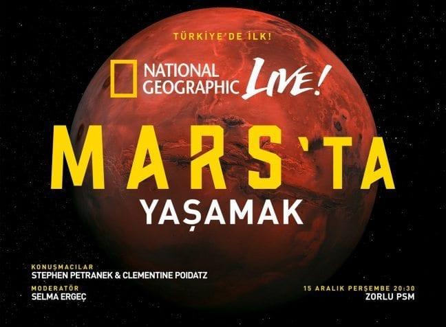 """Nat Geo Live: """"Mars'ta Yaşamak"""" etkinliği başlıyor!"""