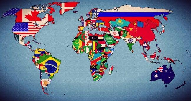 Dünya haritası ile ülkelerin'en'leri