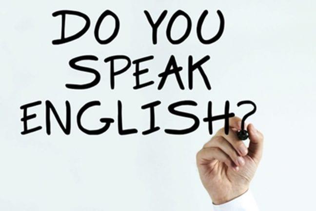 En çok tercih edilen dil İngilizce