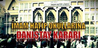 İmam Hatip okullarına Danıştay kararı