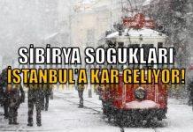 İstanbul'a Sibirya soğuğu geliyor! Kar ne zaman yağacak?