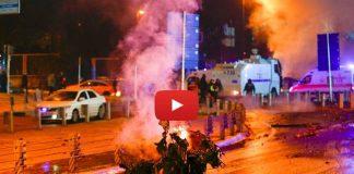 İstanbul Vodafone Arena'da patlama amatör kamerada