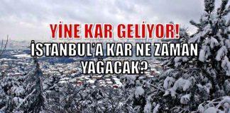İstanbul'a yine kar geliyor: Kar ne zaman yağacak?