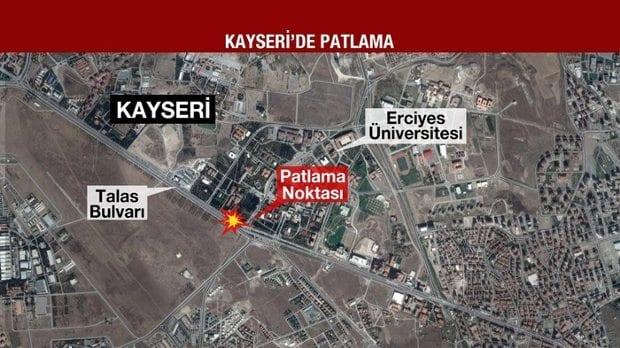Kayseri'de patlama: Can kaybı ve yaralılar var