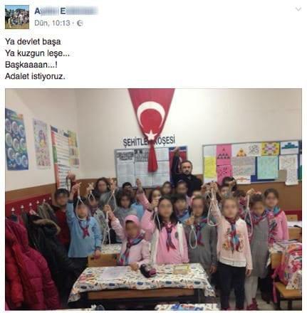Öğretmen öğrencilerine idam ipi dağıttı