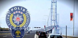 Polis araçlarına yeni köprülerden geçme yasağı
