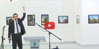 Video: Rusya Büyükelçisi Andrey Karlov'un vurulma anı