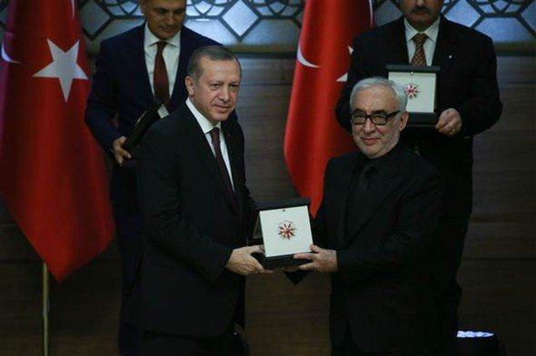 şener şen cumhurbaşkanı erdoğan ödül