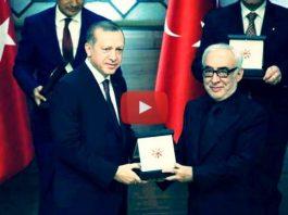 Cumhurbaşkanlığı Kültür ve Sanat Büyük Ödülü'ne layık görülen Şener Şen, Cumhurbaşkanlığı Sarayı'nda konuşma yaptı.