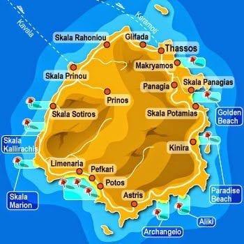 thassos adası taşoz harita gezilecek yerler