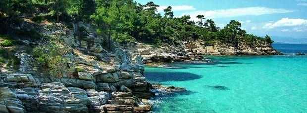 notos beach thassos taşoz