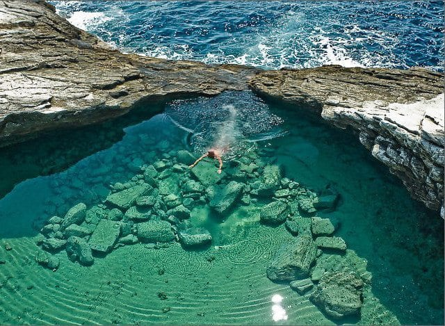 Thassos Adası lagün