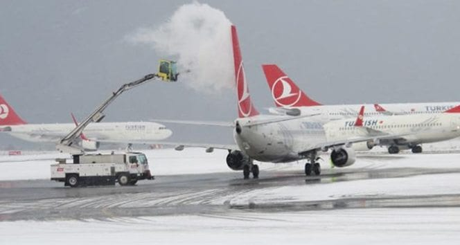 türk hava yolları thy kar yağışı iptal edilen seferler