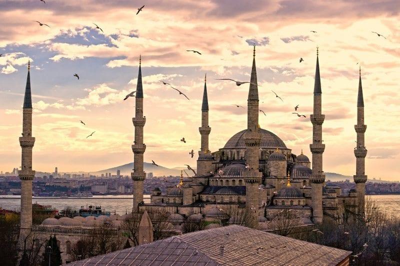 sultanahmet camii blue mosque turkish tourism istanbul