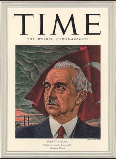 """1964 yılında ise İsmet İnönü'nün TIME Dergisine verdiği """"Yeni şartlarla yeni bir dünya kurulur, Türkiye de bu dünyada yerini bulur"""""""