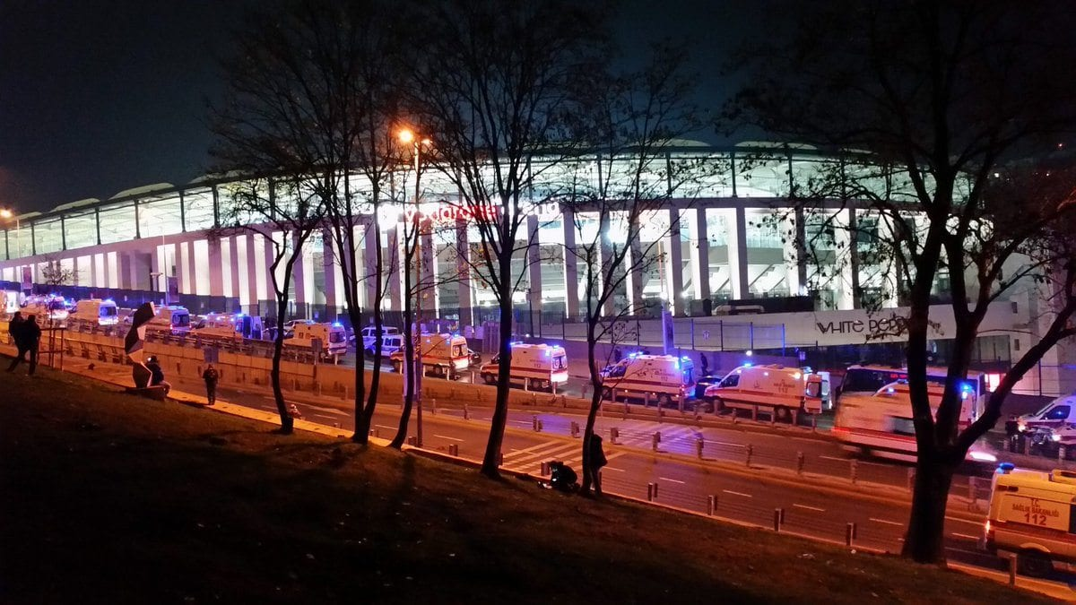 vodafone arena beşiktaş patlama