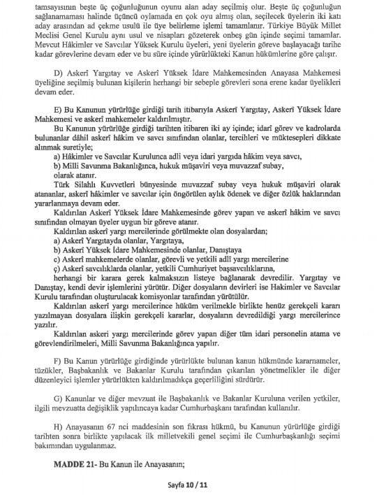 yeni anayasa değişikliği tam metni sayfa 10