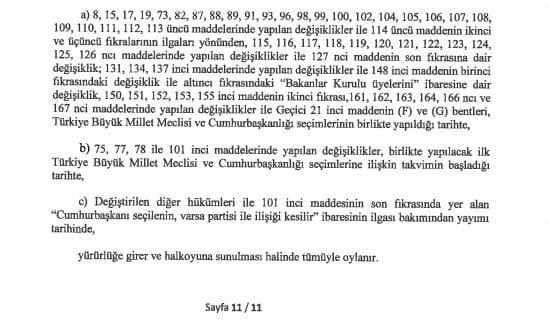 yeni anayasa değişikliği tam metni sayfa 11