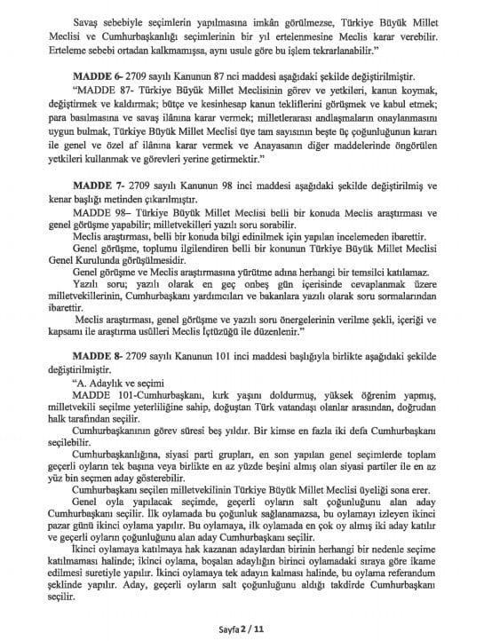 yeni anayasa değişikliği tam metni sayfa 2