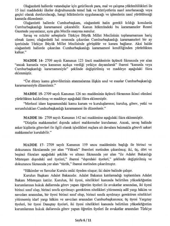 yeni anayasa değişikliği tam metni sayfa 6