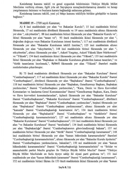 yeni anayasa değişikliği tam metni sayfa 8