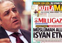 ak parti milletvekili mustafa yeneroğlu milli gazete yılbaşı kutlama manşetine tepki