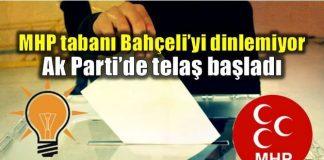 MHP tabanı Bahçeli'yi dinlemiyor; Ak Parti telaşta!