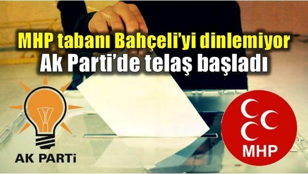 """MHP tabanı Bahçeli'yi dinlemiyor, hayır dalgası artıyor. AK Parti telaşta; daha şimdiden """"Bu işe nereden girdik"""" sesleri yükselmeye başladı."""