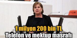 CHP'li elif doğan Türkmen'den 1 milyon 200 bin lira haberleşme faturası