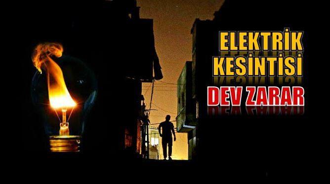 Elektrik kesintileri sebebiyle Gebze'de 120 iş yerinin üretimi durdu. Kesintilerin sadece İkitelli'deki organize sanayi bölgesine zararı ise 300 milyon Euro'yu aştı.