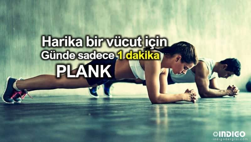 Güzel görünmek harika vücut için günde sadece 1 dakika plank (şınav)