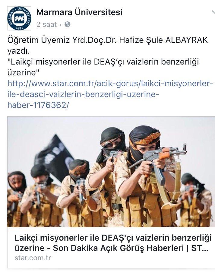 Marmara Üniversitesi önce paylaştı, sonra sildi