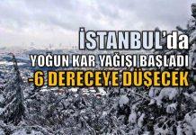 İstanbul kar yağışı başladı 9 Ocak 2017 Pazartesi günü okullar tatil olacak mı?