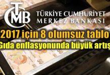 Merkez Bankası'ndan 2017 enflasyon tahmini için olumsuz tablo