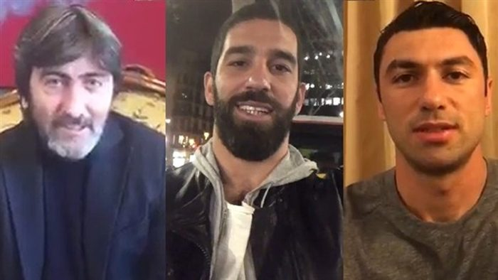 Rıdvan Dilmen referandum için sosyal medyadan bir video yayınlayarak 'evet' kampanyası başlattı. Arda Turan ve Murat Boz destek oldu.