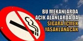 Sigara yasağı kapsamında önemli değişiklikler