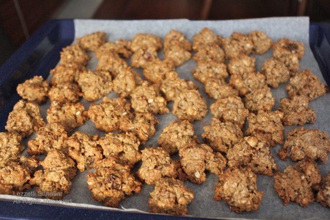 Yulaf ezmeli diyet kurabiye tarifi