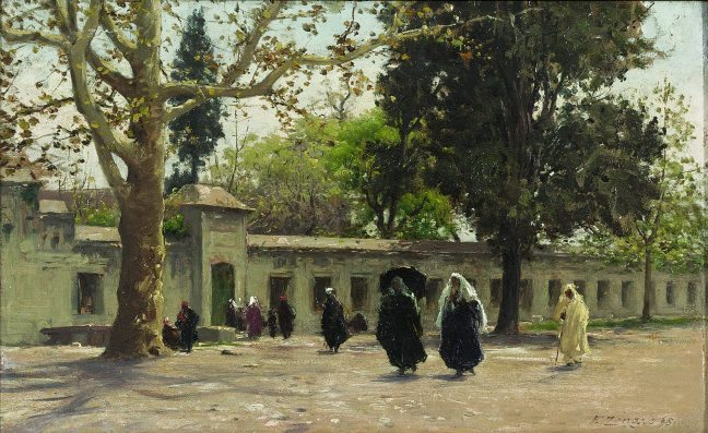 Süleymaniye Cami Önünde