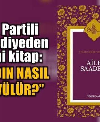 Gaziantep'in AK Parti'li Şahinbey Belediyesi'nin dağıttığı Aile Saadeti isimli kitap, kocaya kadının nasıl dövüleceğine dair öğütlerde bulunuyor.