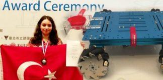 Lise öğrencisi Alara Güler'in tarım robotu dünya ikincisi oldu