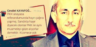 Hayır diyenleri tehdit eden Başsavcı Vekili Cevdet Kayafoğlu meclis gündeminde