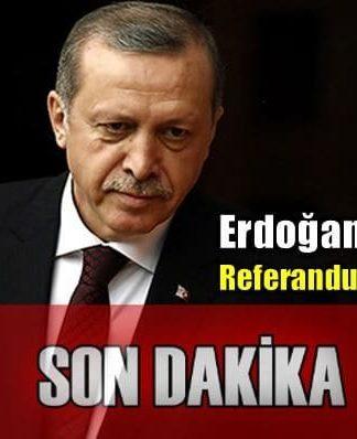 Cumhurbaşkanı Erdoğan imzaladı: Referandum ne zaman?