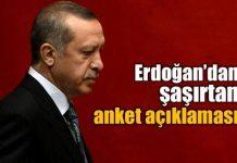 Cumhurbaşkanı Erdoğan'dan şaşırtan anket açıklaması