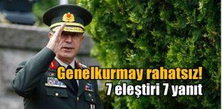 Genelkurmay Başkanı Hulusi Akar'a yönelik eleştiri ve iddiaların TSK Karargahında rahatsızlık yarattığı öğrenildi.
