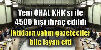 Son KHK ihraçlarına AK Parti'li gazeteciler bile tepki gösterdi