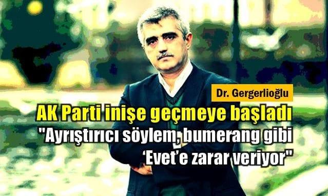 Eski Mazlumder Başkanı Gergerlioğlu: AK Parti inişe geçmeye başladı